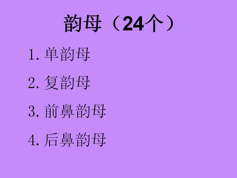 小学一年级语文 汉语拼音 课件