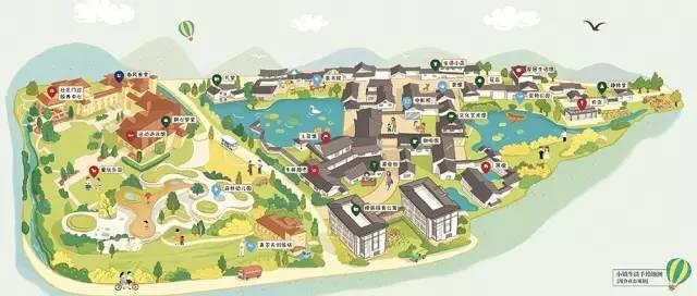 [小镇中心手绘图]