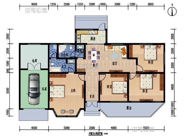 10套新农村平房户型 火炕车库双客厅 回家建一套不