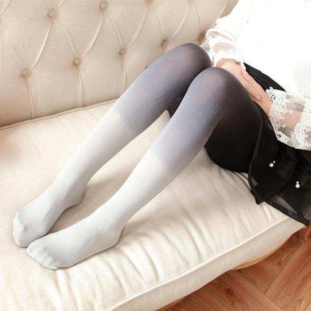 冬天穿厚连裤袜