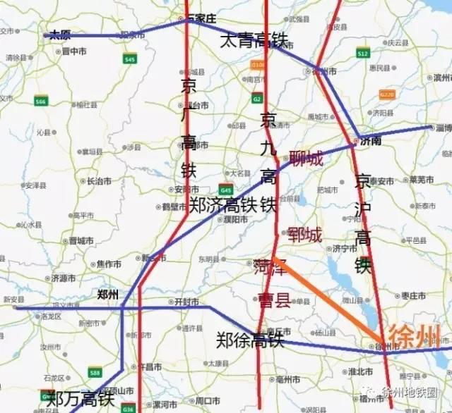 丰沛两县将通高铁 2020年后开建徐荷客专