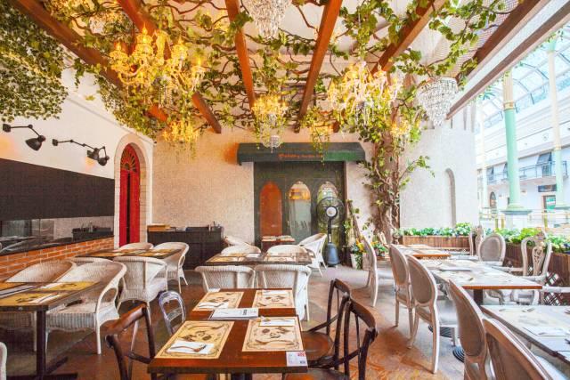 欧式餐馆的用餐区图片