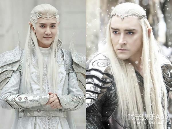 马可新剧白发造型美哭,古装白发美男子还有他们.