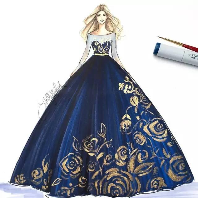 她画笔下的礼服,美得掉渣~ - 浪浪云 - 仰望星空