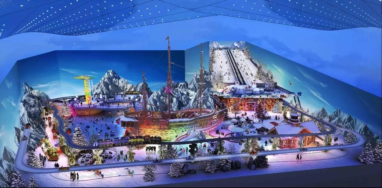 冰雪王国 室内滑雪运动,室内滑冰运动,雪地互动娱乐,艺术冰雕雪雕展