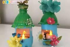 废塑料瓶制作小房子灯笼