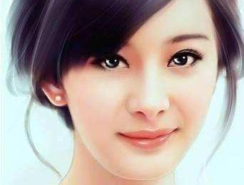 杨幂真人转手绘图太美了, 简直比真人还好看