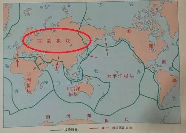 人教版2012年教材用图中对欧亚大陆板块的命名