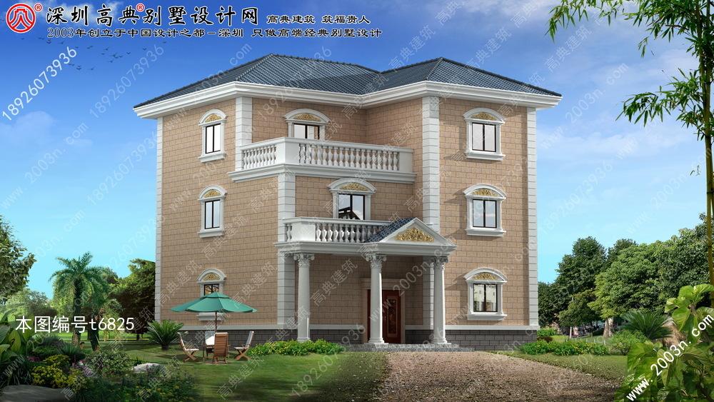 二层半别墅外观效果图, 新农村房屋设计图, 农村房屋设计图大全