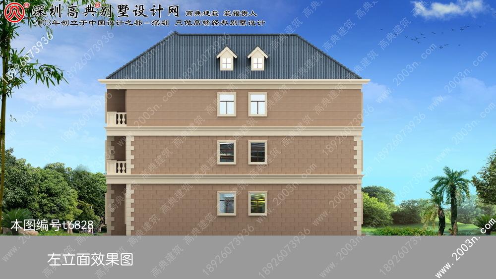 欧式农村三层别墅效果图首层217平方米