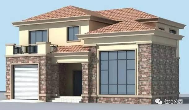 果图,这是一款两层小楼户型.-农村盖新房实景图VS效果图,这还