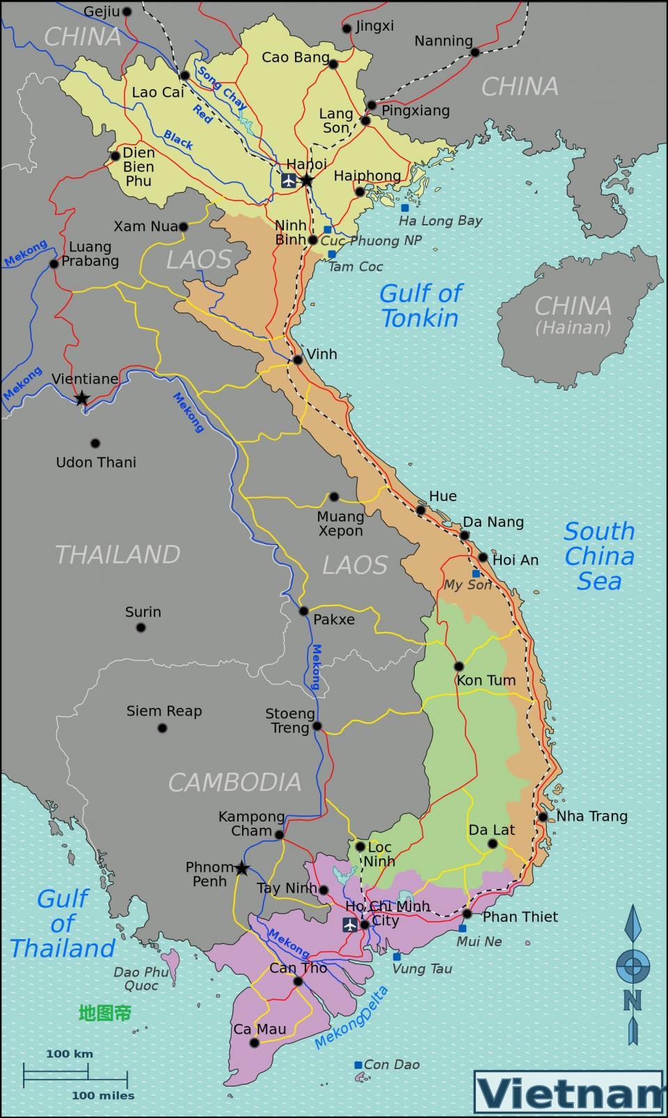 老挝北与中国云南接壤,南接柬埔寨,东接越南,西与泰国是邻居,西北角与