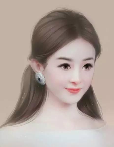赵丽颖手绘画,美的倾国倾城,侧脸更是迷死人