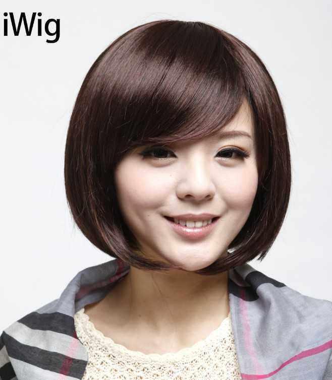 甜美系 简单甜美的波波头发型是学生的最爱,中短的头发,好看又易打理图片