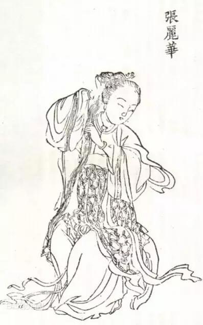 古代手绘美女图片皇后