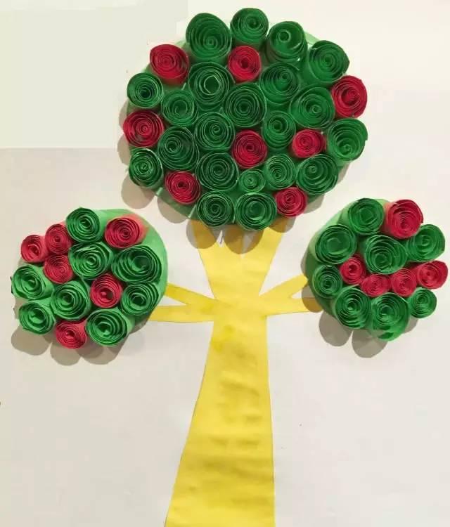 手工制作—春天的小树在成长