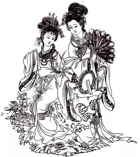 古代妖艳王妃手绘