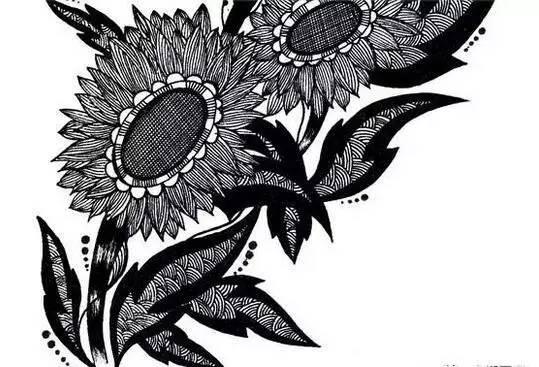 黑白画的表现内容很多,基本上人物,风景,动物,静物,花卉居多.图片