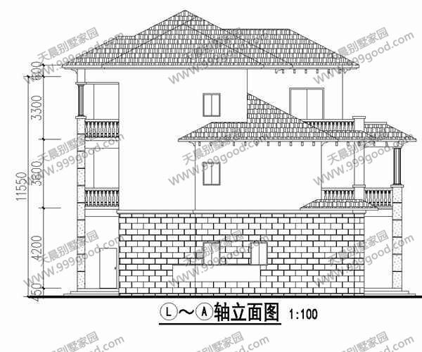 农村欧式三层别墅设计图,谁说建成后不如效果图