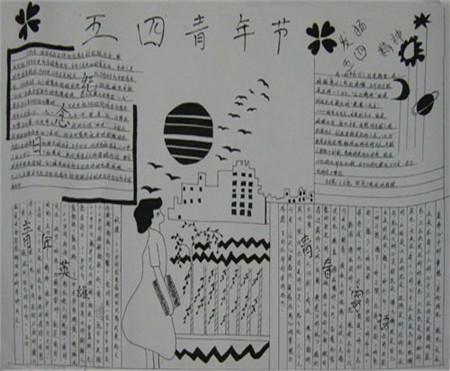 黑板报花边纹样设计1000例 传承五四精神