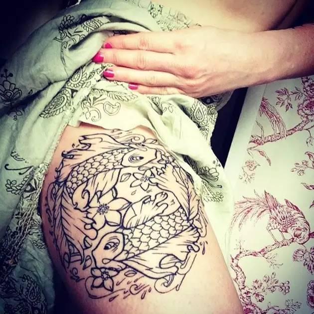 纹身|双鱼座图案