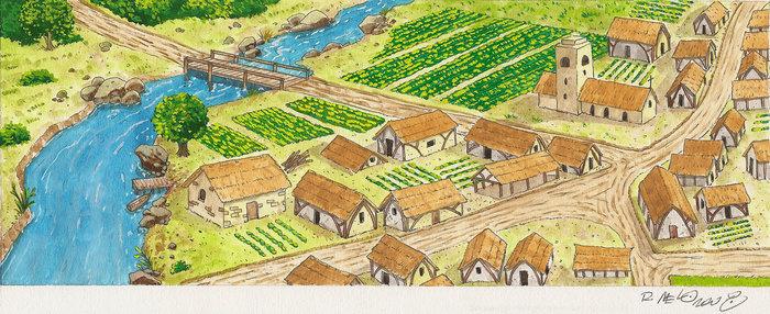 时尚 正文  中世纪的领地 要在乡村工作和生活,农民们就离不开贵族的图片