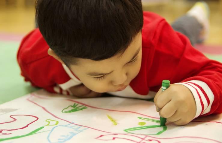 孩子画画儿为什么乱七八糟?图片