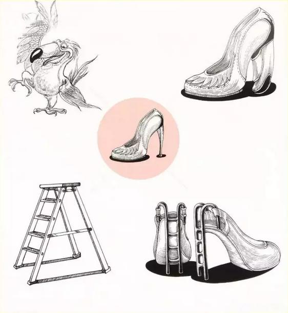 鞋创意设计手绘