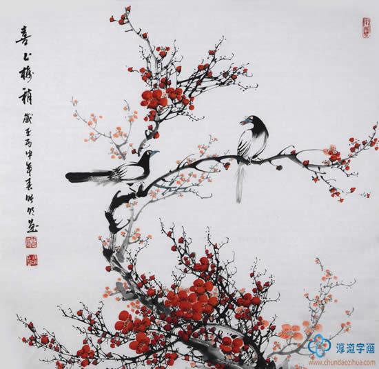 艺术家笔下的 梅花香自苦寒来 哪个更美