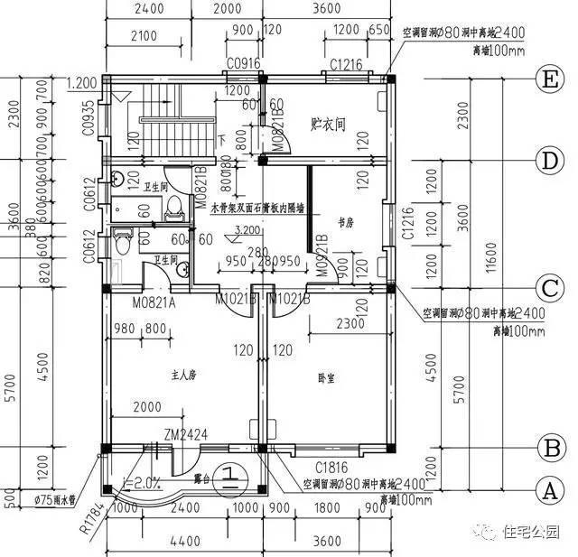 10米x12米自建房平面图
