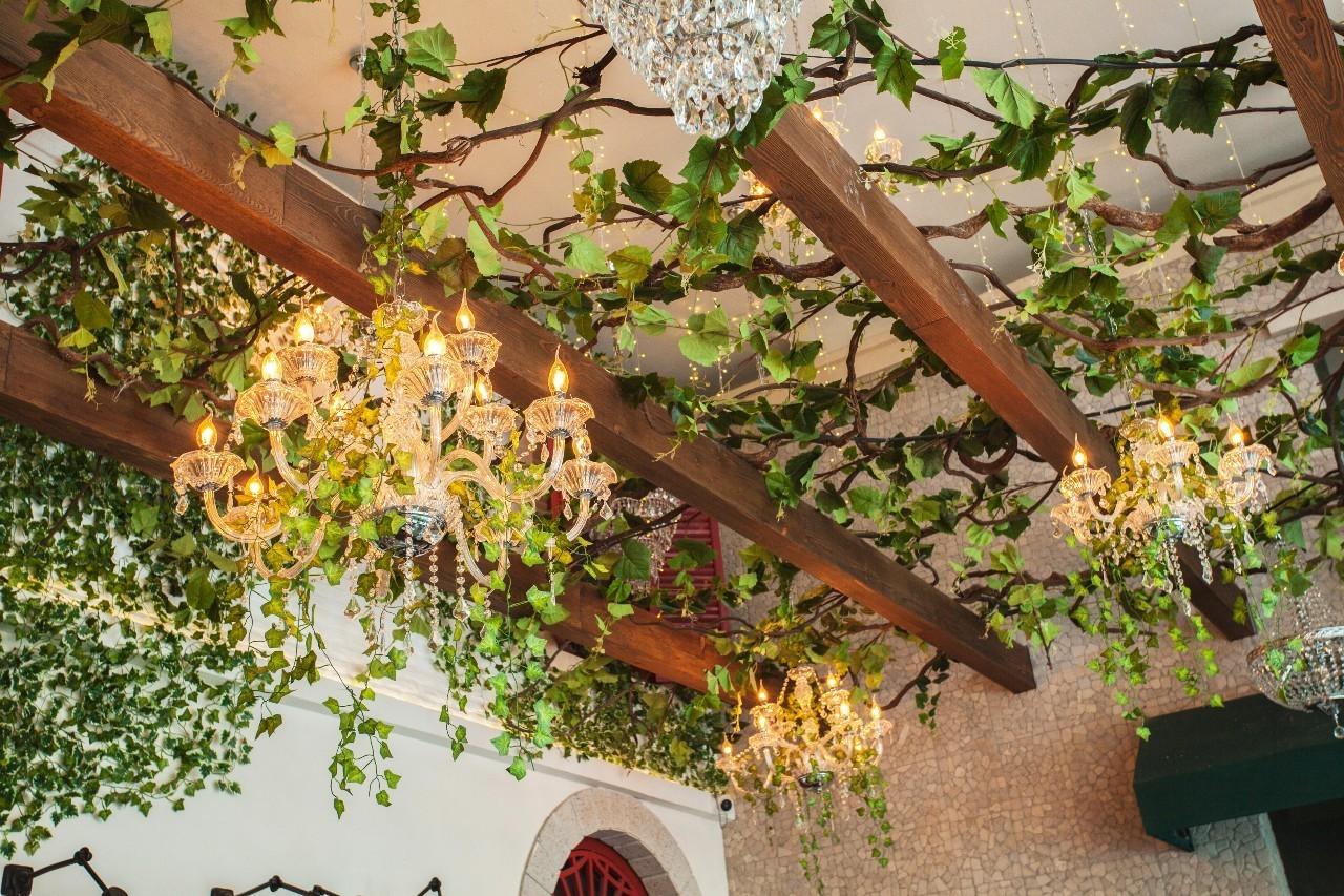 欧式藤蔓拱门花园油画