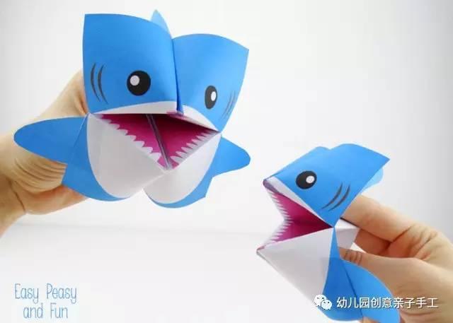 鲨鱼图片简笔画彩色