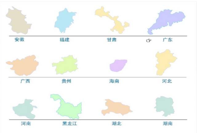 新疆西藏是鸡尾,青甘宁川①重庆依. 内蒙伏在鸡背上,碧草蓝天风光美.图片