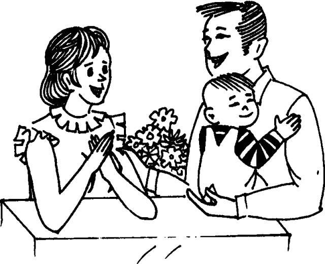 都要为我们准备一桌可口的饭菜;爸爸,你应该到家多帮妈妈做些家务,那图片