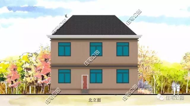 12x11米农村别墅,旋转楼梯带夹层,怎么做到的?