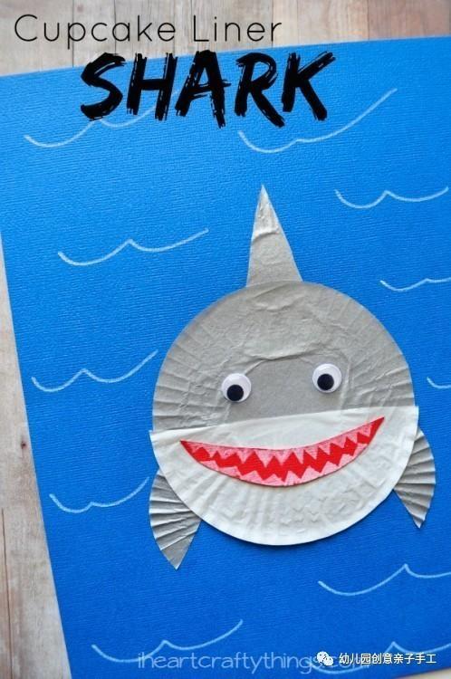 鲨鱼制作大全,卡纸折纸书签纸盘等可爱极了!