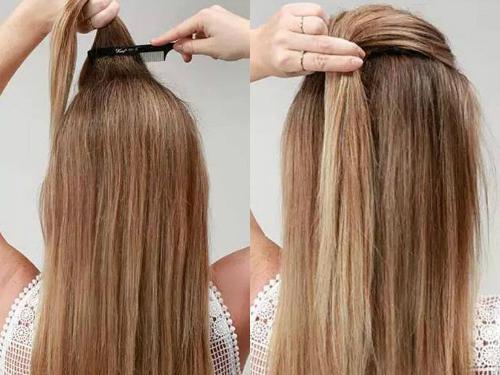个性甜美春季长发发型扎法图片