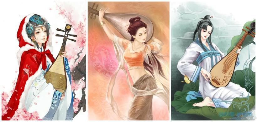 古风手绘跳舞图