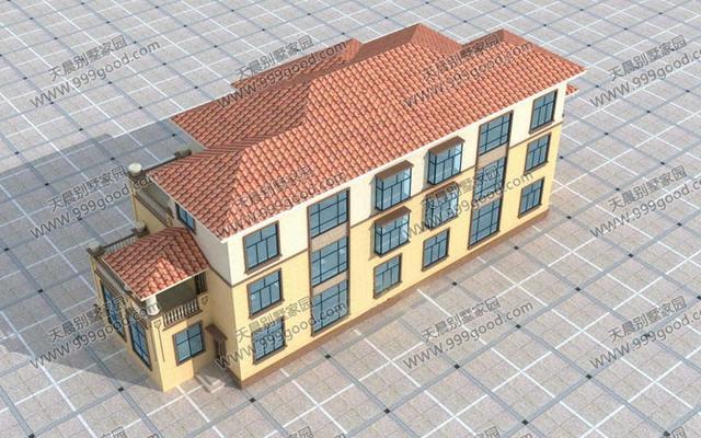 豪华三层农村别墅,双拼户型的代表,全图!