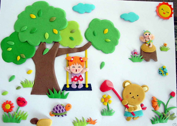 幼儿园春季立体的主题墙装饰