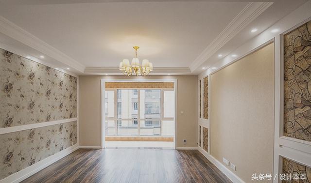 再开一张沙发背景墙,看到客厅吊顶的设计了吗?图片