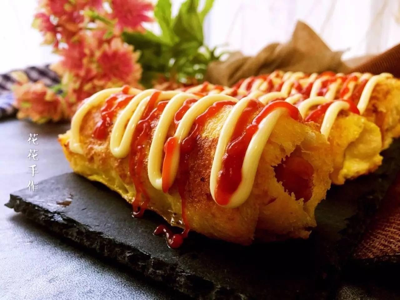 食谱|黄金吐司卷,光彩诱人,口感佳