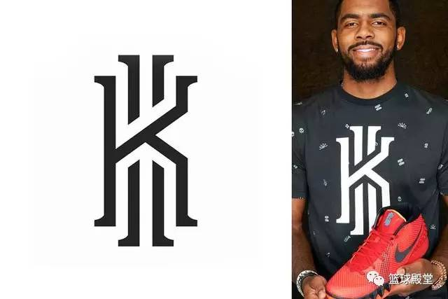 欧文logo是由大写的k和数字ii组成,k代表欧文名字,数字代表了他的球衣图片