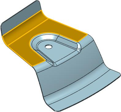 第五步,拾取圆孔的面,对面进行简化操作,如图7所示.图片