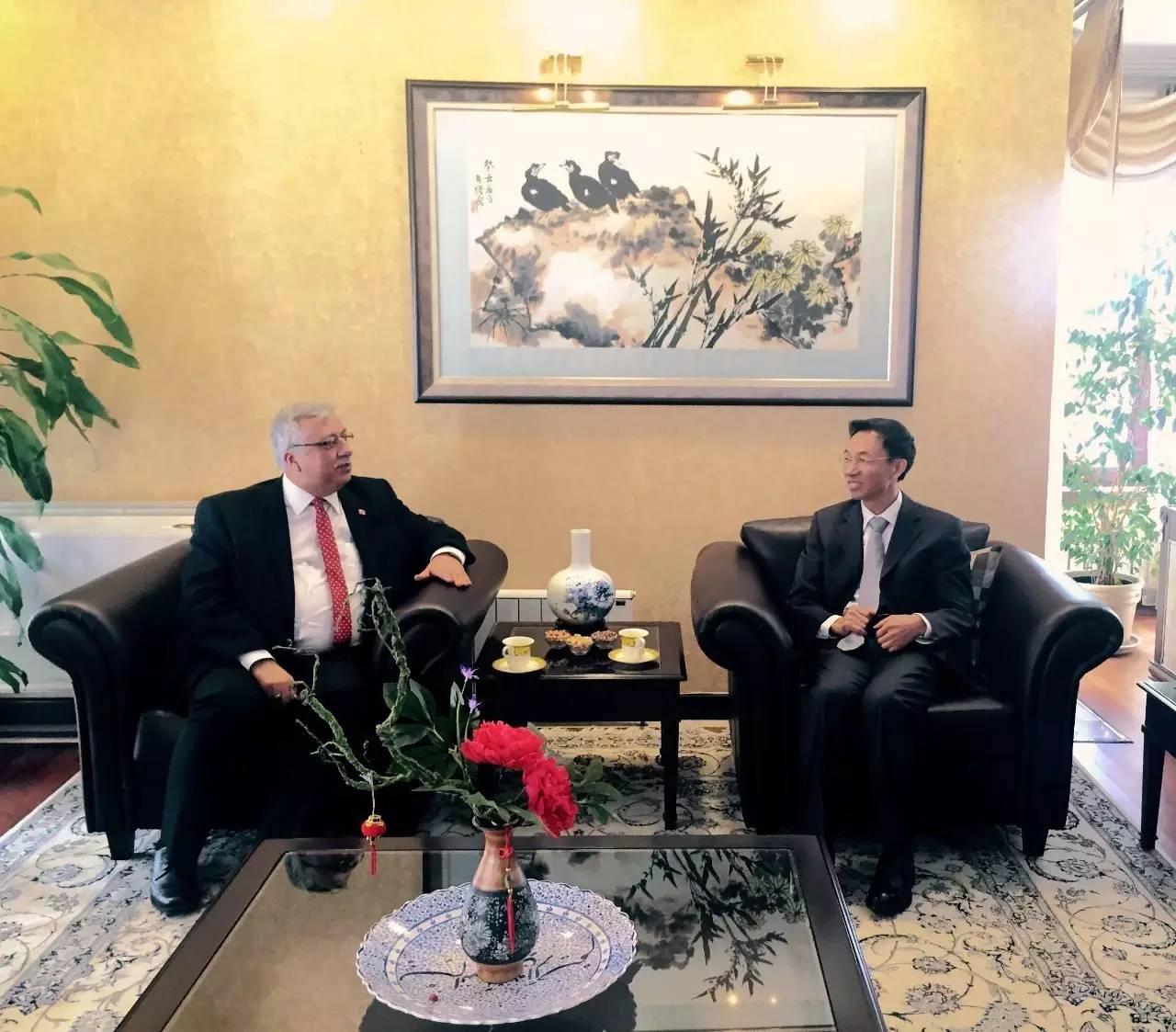 郁红阳大使会见土国家广播电视高级委员会主席