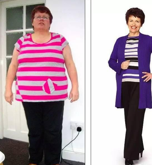 2012年她成功甩掉51公斤,下图是对比照片: 她减肥成功后表示:年纪大