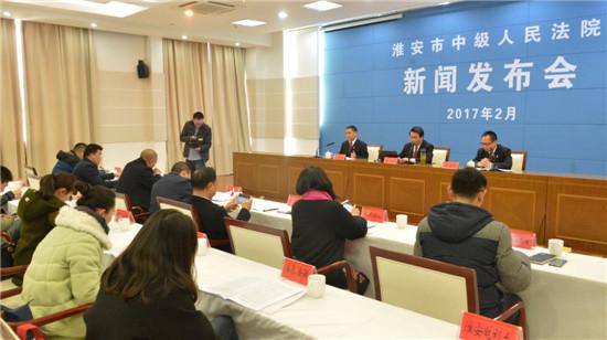 江苏:淮安中院召开环境资源审判工作专题新闻发布会