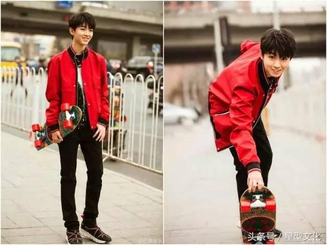 进入大学的王俊凯也拍摄了一组,从来没有尝试过的照片,穿的不再是