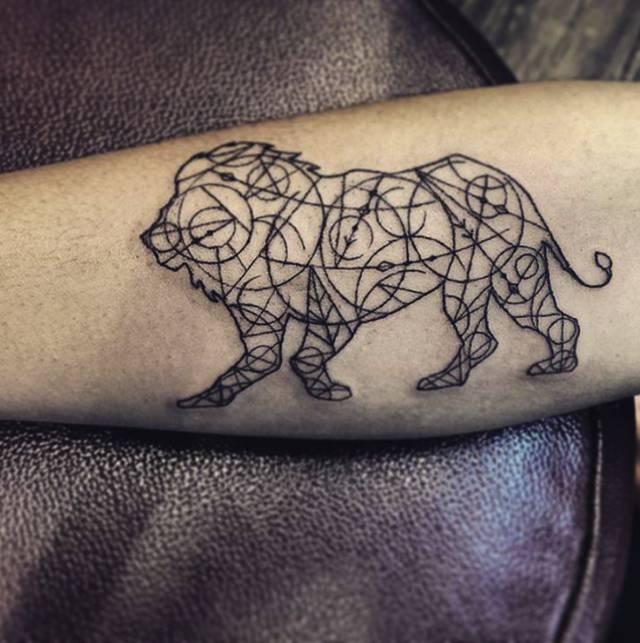 纹身|狮子座
