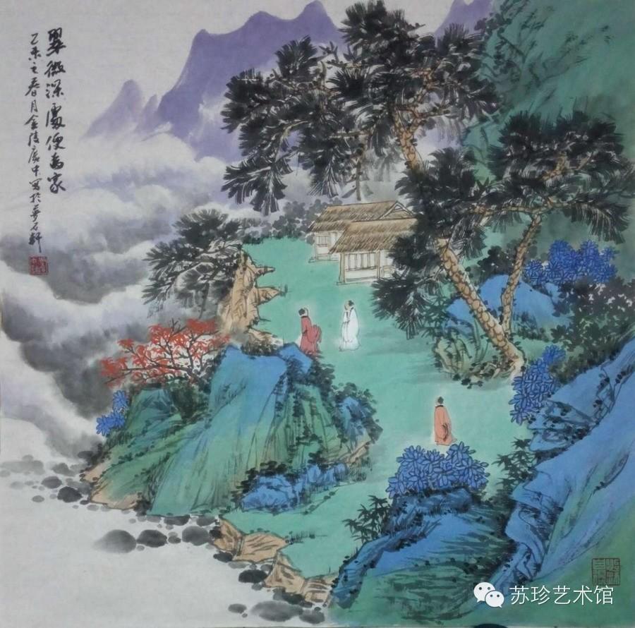 青绿山水组画-周广中图片